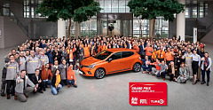The all-new Renault Clio wins the award of the best production car at the RTL – Auto Plus – Turbo Grand Prix