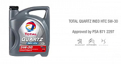 TOTAL QUARTZ INEO HTC 5W-30: An Innovative New Lubricant Especially Formulated for PSA Car Engines
